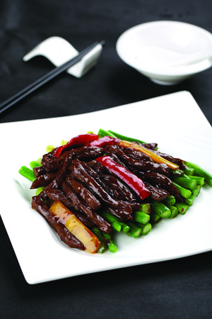 chinese cuisine: Chinese cuisine served on plate