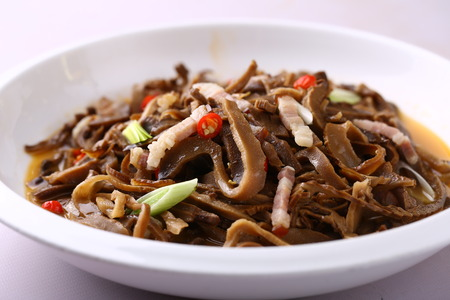 served: Chinese cuisine served in bowl Stock Photo