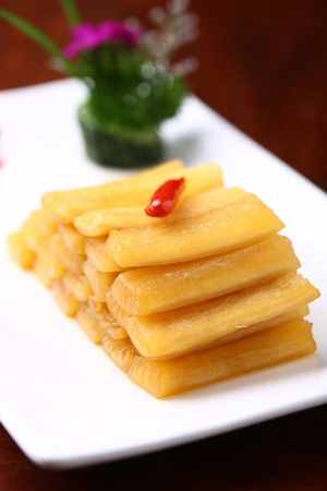 served: Chinese snacks served on plate