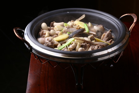 served: Chinese cuisine served in pot