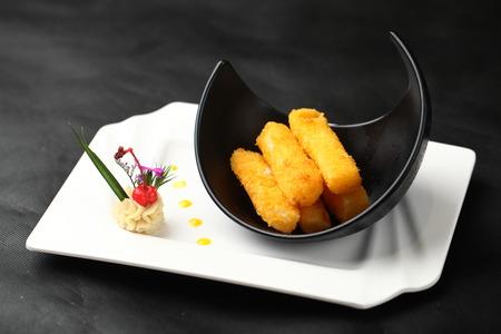 deep fried: deep fried fish finger Stock Photo