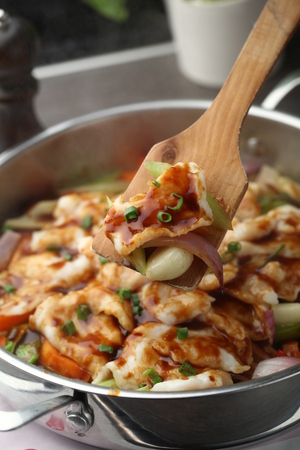 chinese cuisine: Chinese cuisine served in a pot
