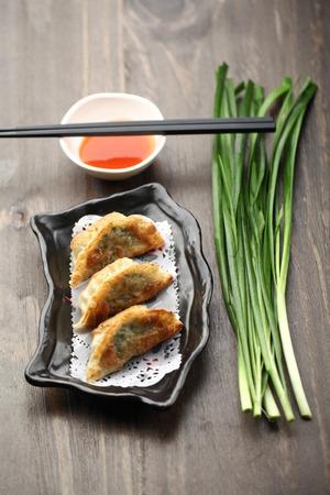 seared: chinese pan seared dumpling Stock Photo