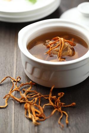chicken soup: Cordyceps flower herbal chicken soup