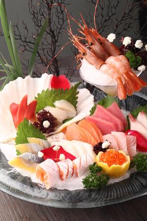 Delicious sashimi platter Stock Photo