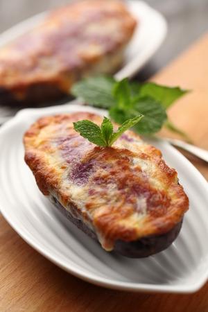 cheesy: cheesy eggplant Stock Photo