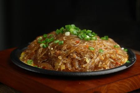 stir fried: Stir fried glass noodle