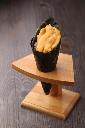 urchin: Sea urchin roll Stock Photo