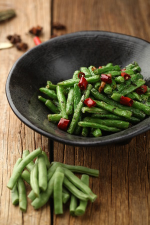 long bean: spicy fried long bean