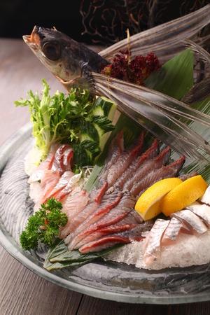 sashimi: fish sashimi Stock Photo