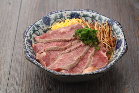 served: Sliced meats served in a bowl