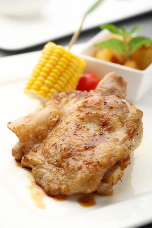 chicken chop: western cuisine - chicken chop Stock Photo