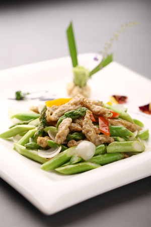 served: Chinese cuisine served on a plate Stock Photo