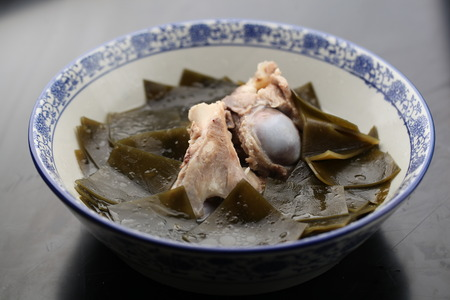 served: Chinese cuisine served in a bowl