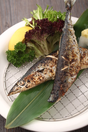 served: Grilled fish served on a plate Stock Photo