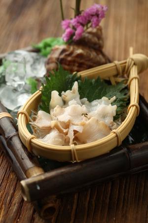 served: Seafood served in a basket
