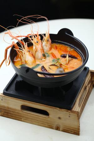 yum: Tom yum seafood soup