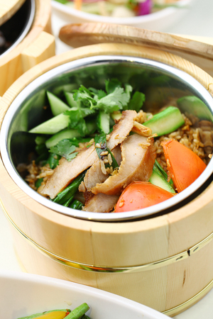 food storage: Chinese cuisine served in a thermal food storage