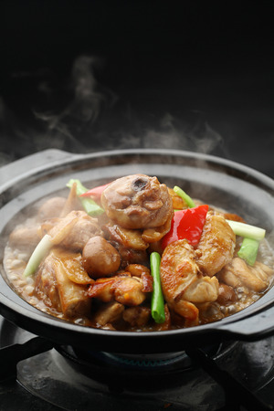 clay pot: Chinese cuisine cooked in a clay pot over a stove