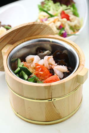 cloud ear fungus: Chinese cuisine served in a thermal food storage