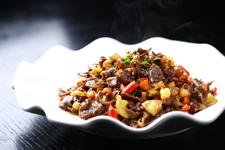 giblets: Spicy and sour chicken giblets Stock Photo