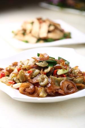 stir fried: Stir fried vegetable served on a plate