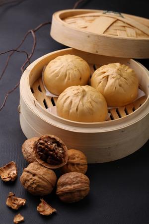 filling: Steamed bun with walnut filling