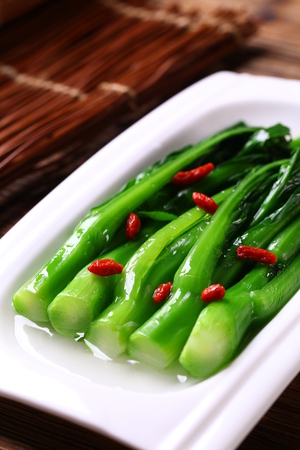 cuisines: Baby kailan boiled with goji berries