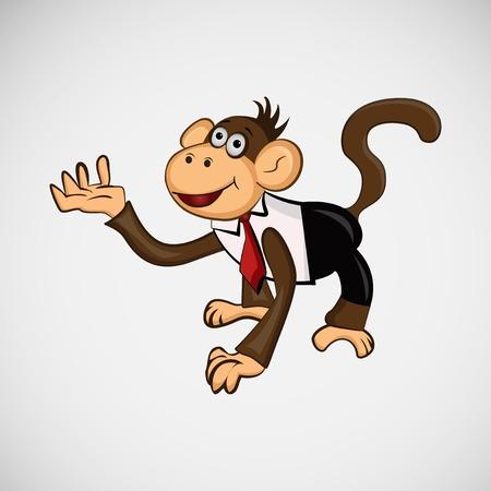 Monkey with a tie