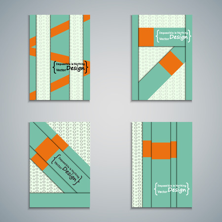 nformation: Set of brochure design. Vector template geometric lines on the spot background