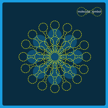 nucleic: Sign of DNA on a blue background.  Molecule structure, interconnection, social network. Illustration