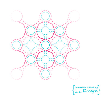 nano technology: Logotype sign of DNA molecule. Social network, Biomedicine, Biomedical engineering, Nano technology, Chemical and Physical concepts
