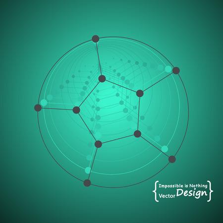 nano technology: Vector design illustration. Nano technology and modern science concept.