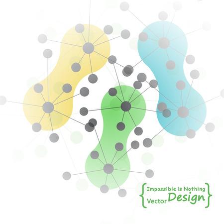 Molecular structure vector background