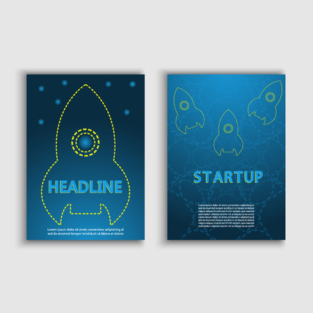 starting a business: Starting a new business project infographics rocket vector.