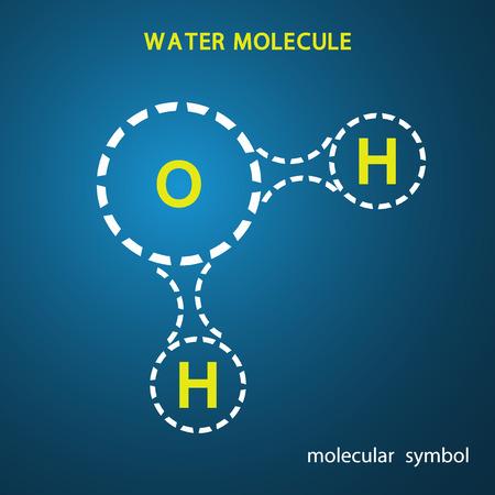 water molecule: Signo de la mol�cula de agua es un vector.