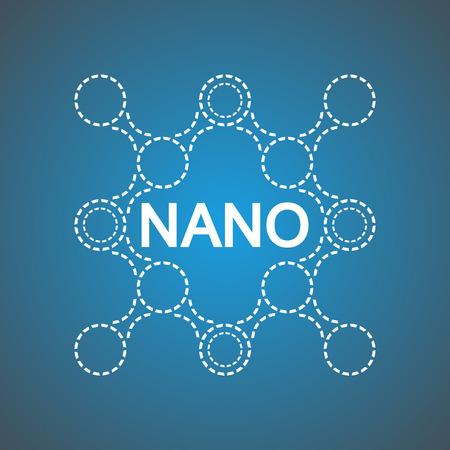 Logo de la molécula de ADN para los productos de la nanotecnología. Para la medicina, biomedicina, química, la física, la ingeniería biomédica, la biofísica, bioquímica