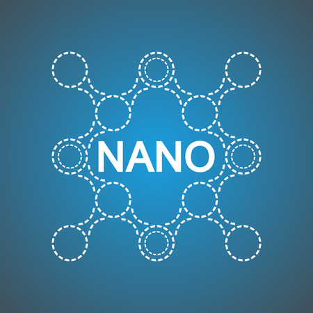 Logo of DNA molecule for Nanotechnology products. For medicine, biomedicine, chemistry, physics, biomedical engineering, biophysics, biochemistry