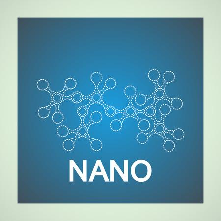 biomedical: Logo di molecola di DNA su sfondo blu. Farmacologia segno. Per la medicina, la biomedicina, chimica, fisica, ingegneria biomedica, biofisica, biochimica Vettoriali