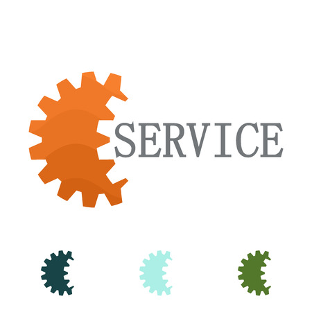 garage mechanic: Industrial logo design concept. Corporate logotype for production or service and maintenance business. Vector design illustration