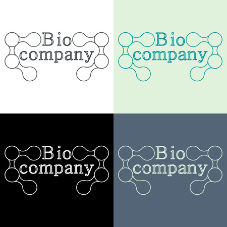 biophysics: Creative innovation business icon of DNA structure. Logo design concept for modern company.