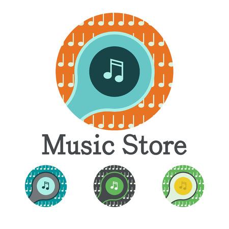 music logo: Music logo vector icon Illustration