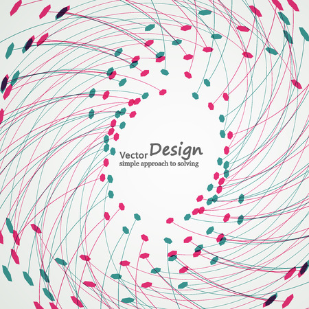 subsidiary: Abstract geometric shapes on a light background. Illustration
