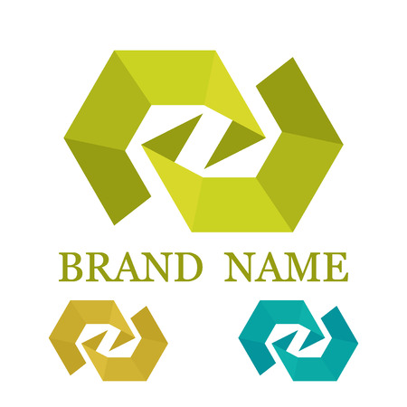 company name: Company name design. Logotype for a product. Illustration