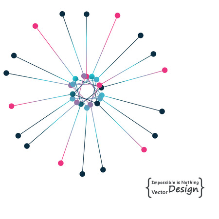 node: Node molecule structure with dynamic particles. Internet and communication. Burst of atoms. Explosion and destruction. Firework