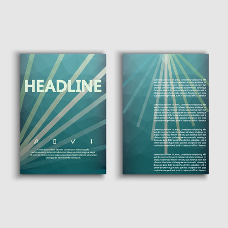 pamphlet: Brochures on modern science and technology concept. Virtual abstract background. For leaflet, poster, book cover, annual report, poster, pamphlet. Illustration