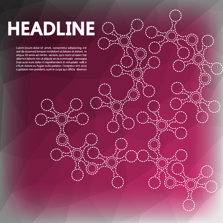 genome: Abstract background with molecule structure. Genetic and chemical compounds. Nerves, genome, molecule, DNA