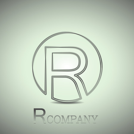 company name: Abstract letter R. Company name logo. Vector design Illustration