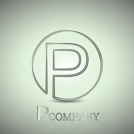company name: Abstract letter P. Company name logo. Vector design
