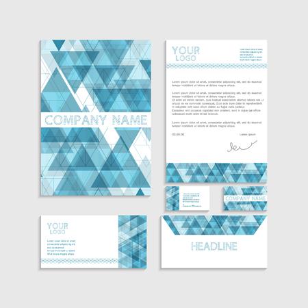 envelop: illustration of set of business template. Bochure. Business card. Envelop